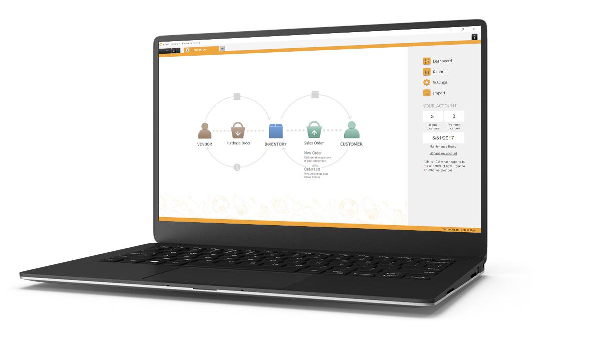 inFlow Inventory software dashboard screenshot